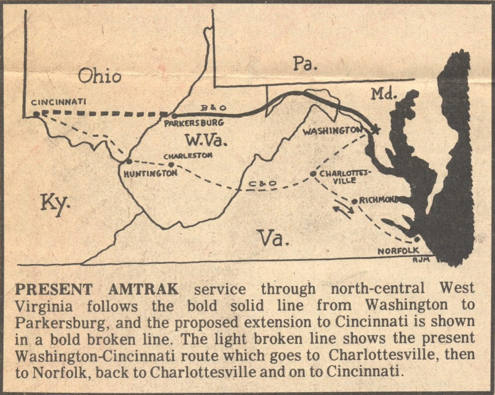 Parkersburg West Virginia Map.Keeping The Trains Running The Fight To Maintain Passenger Service